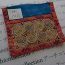 モン族の襟飾り no.41  13x11 cm  Hmong embroidery needlework はぎれ ラオス タイ