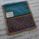 モン族の襟飾り no.33 13.5x15cm  Hmong embroidery needlework はぎれ ラオス タイ