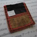 モン族の襟飾り no.40  11.5x12 cm  Hmong embroidery needlework はぎれ ラオス タイ