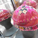 ウズベキスタン ウズベク族UZBEK WOMEN'S CAP57 刺繍女性用帽子53h12cm