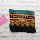 Hmong モン族 はぎれno127  12x11. cm 刺繍布 古布 山岳民族 hilltribe ラオス タイ