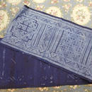 モン族 麻布 約1mx26cm 45 藍染 古布 Hmong Batik
