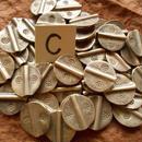 カレン族シルバー銀925NOC 1個2G W1.9H1.3D0.3CM穴2MM necklaceネックレス karen hilltribe