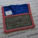 モン族の襟飾り no.69  14x14 cm  Hmong embroidery needlework はぎれ ラオス タイ