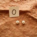 カレン族シルバー銀925NOO 2個1G W0.5H0.3D0.3CM穴2MM necklaceネックレス karen hilltribe