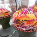 ウズベキスタン ウズベク族UZBEK WOMEN'S CAP47 刺繍女性用帽子53h11cm