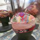 ウズベキスタン ウズベク族UZBEK WOMEN'S CAP29刺繍女性用帽子55H10cm