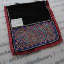 モン族の襟飾り no.15  14.5x15 cm  Hmong embroidery needlework はぎれ ラオス タイ