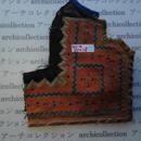 モン族の胸飾り no.4  21x18 cm  Hmong embroidery needlework はぎれ ラオス タイ