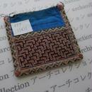 モン族の襟飾り no.77  11x11 cm  Hmong embroidery needlework はぎれ ラオス タイ