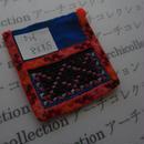モン族の襟飾り no.26  8x8.5cm  Hmong embroidery needlework はぎれ ラオス タイ