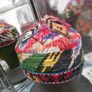 ウズベキスタン ウズベク族UZBEK WOMEN'S CAP31 刺繍女性用帽子51XH10cm