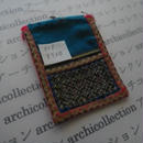 モン族の襟飾り no.8  8.5x12 cm  Hmong embroidery needlework はぎれ ラオス タイ