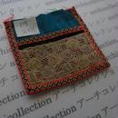 モン族の襟飾り no.28  12x11 cm  Hmong embroidery needlework はぎれ ラオス タイ