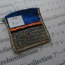 モン族の襟飾り no.65 8x8.5 cm  Hmong embroidery needlework はぎれ ラオス タイ