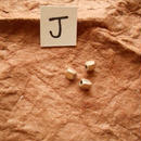 カレン族シルバー銀925NOJ 3個1G W0.4H0.4D0.4CM穴1.5MM necklaceネックレス karen hilltribe