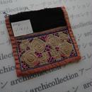 モン族の襟飾り no.4  11x11 cm  Hmong embroidery needlework はぎれ ラオス タイ