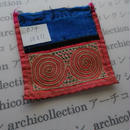 モン族の襟飾り no.74  10x11 cm  Hmong embroidery needlework はぎれ ラオス タイ