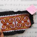Hmong モン族 はぎれno.222  15x11 cm 刺繍布 古布 山岳民族 hilltribe ラオス タイ
