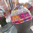 ウズベキスタン ウズベク族UZBEK WOMEN'S CAP22 刺繍女性用帽子49H10cm