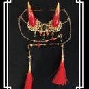 estrelleas/エストレージャス  百鬼祭鬼角頭上装飾 装飾ツノ 赤系