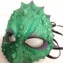 N0.96 スキンマスク 鱗 緑×紫