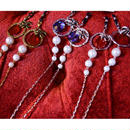 Phantom Jewelry/ファントムジュエリー 蜘蛛と赤い石のメガネチェーン
