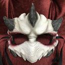 N0.96 スキンマスク 鬼 白×赤