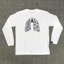 肺ロンTEE (Black / White)