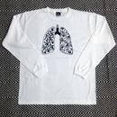BAKIBAKI 肺柄ロンTEE (Black / White)