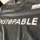 "Beasty ""UNSTOPPABLE""   T-shirts  -mix gray-(スポーツ生地)"