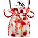 No.26 KSB★2WAY   Shoulder Bag KINCHAKU  【Red Lingeing Sensation】 【 赤い余韻】[内ポケット+ビニールポーチ付]  のコピー