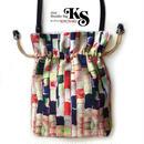 No.19 KSB★2WAY Shoulder Bag【 ARARE 】巾着ショルダー バッグ【 あられ 】[内ポケット+ビニールポーチ付]