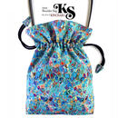 No.30 KSB★2WAY   Shoulder Bag KINCHAKU  【Blue Cells】 巾着ショルダーバッグ【 ブルーセルズ 】[内ポケット+ビニールポーチ付]