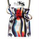 No.10 KSB★2WAY Shoulder Bag KINCHAKU 【Evening Calm 穏やかな夕べ】Party bag & Dayly!   [内ポケット+ビニールポーチ付]