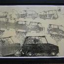追加出品  銅版画家山本容子さんの29年前に制作されたオリジナル・ポスター{オフセット} つや消し黒額入り  希少作品