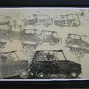 人気銅版画家 山本容子さんの29年前に製作されたオリジナル・ポスター <希少品>  黒額入り 贈り物やインテリアとしても最適です。  店頭人気作品、当店以外ではお求めできないポスターです。