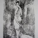 マリー・ローランサンの銅版画 :送料無料