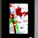 #11 人気現代アート作家・今井アレクサンドルの抽象、油彩 新品、額入り 送料無料