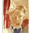 期末大処分!Raoul  Dufy ラウル・デュフィのリトグラフ  「自画像」:送料無料