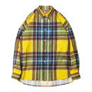 BONES AND BOLTS O.S. L/S SHIRT (PRINT CHECK) YELLOW S
