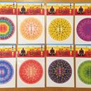 ふとまに1 ステッカー大 全8種 8枚セット (虹・オレンジ・黄色・紫・青・赤・藍・緑)