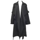 Drape Trench Coat (Black)
