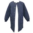 Quilting No Collar Jacket (Navy)