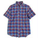 nisica(ニシカ)   ボタンダウンシャツ  BLUECHECK