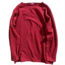 Tieasy authentic classic  002ボートネックシャツ  BURGUNDY