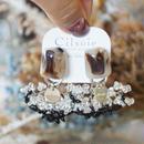 Cilsoie // レースイヤリング Lace earrings black