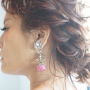 rimiue / フラワー  ピアス&イヤリング  silver x pink