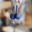kicca jewelry // ラピスラズリピアス