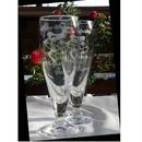 ブライダルプレゼント用ペア・ビアグラス(彫刻込み)